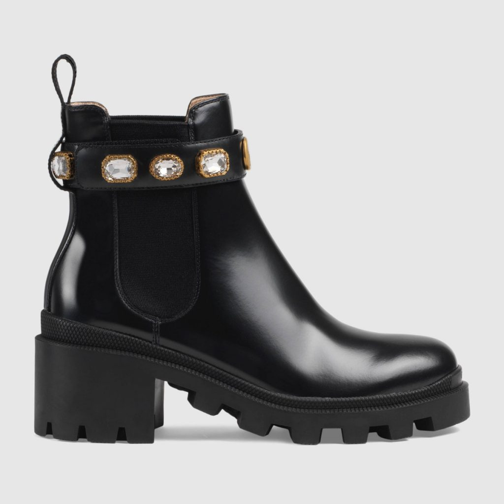 Guccie Leather ankle boot with belt $ 1,100